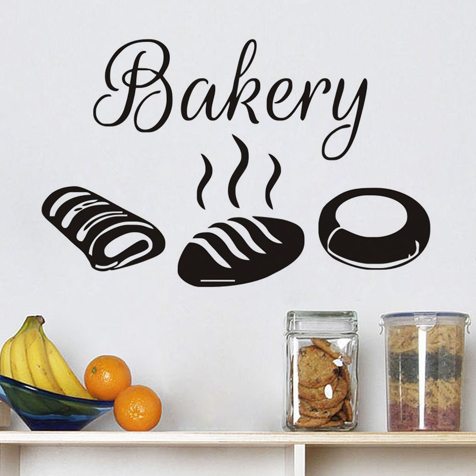 Bakery Kitchen Wall Stickers Decor,Hot Bread Decals Hollow Out ...