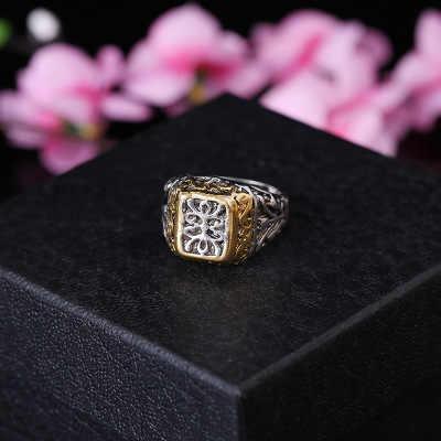 แฟชั่น Joker แหวนผู้ชายผู้หญิงแหวนไทเทเนียม Punk Vintage Rock แหวน Hip Hop แฟชั่นเครื่องประดับงานแต่งงานแหวน