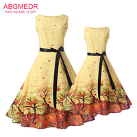 Teenage Sleeveless Dresses For Girls Wedding And Party Dress Girls Printed Clothing 15 Kids Clothes 2017