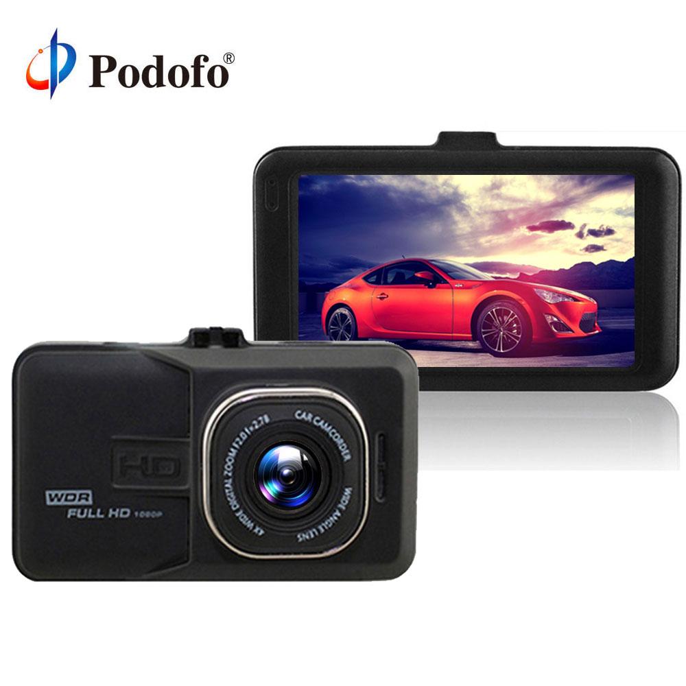 Podofo Novatek 96223 Car Dvr Full HD 1080p Recorder 3 0 inch Dashcam Camera FH06 Video