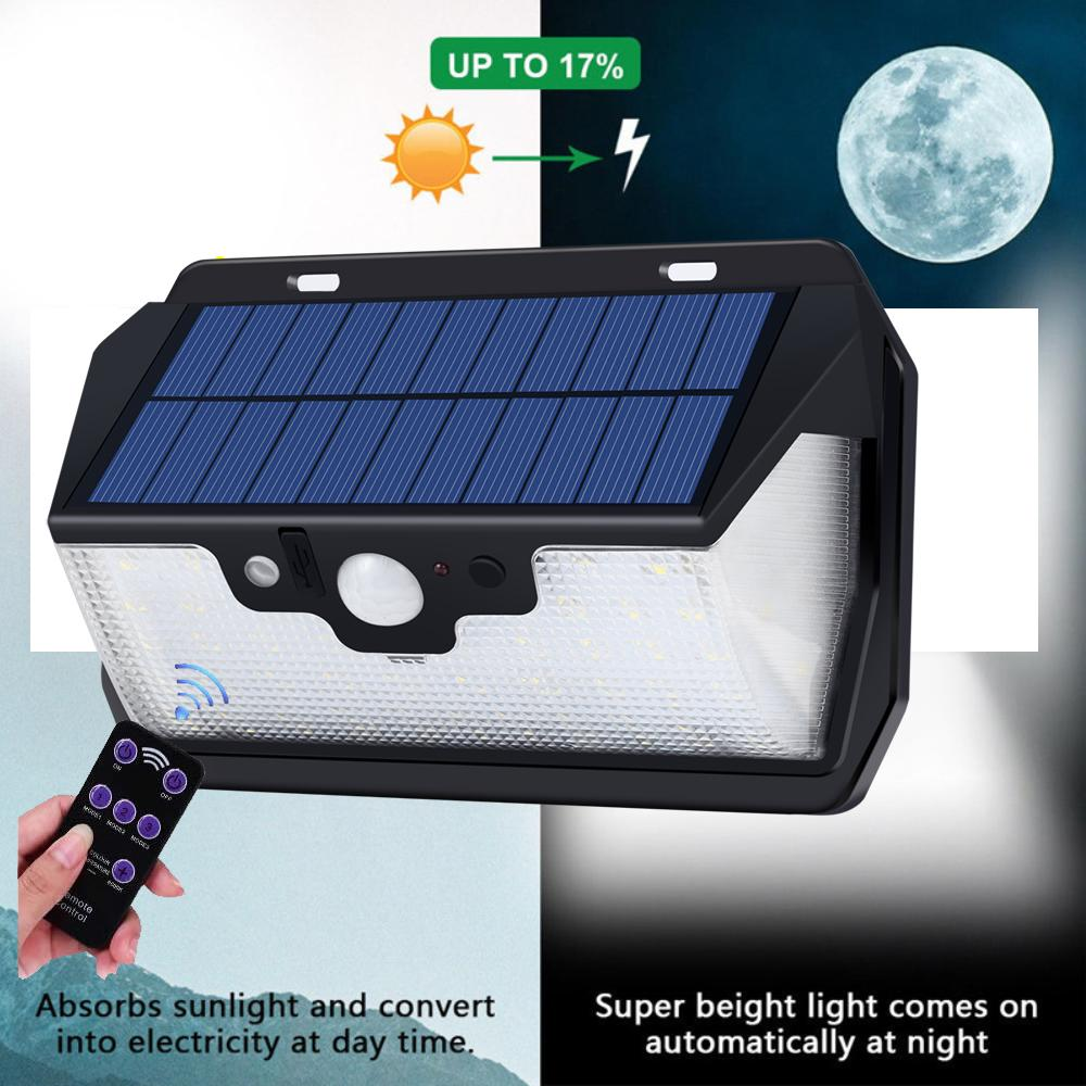 update  55 LED 900lm Solar Light remote control radar smart vs384828103020 led 270 classic style 450LM LED IP torch camp 3