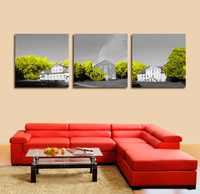 3 panel cuadros decoracion Güzel ev Manzara resim Tuval baskı vintage modülü boyama hiçbir çerçeveli decoracion hogar