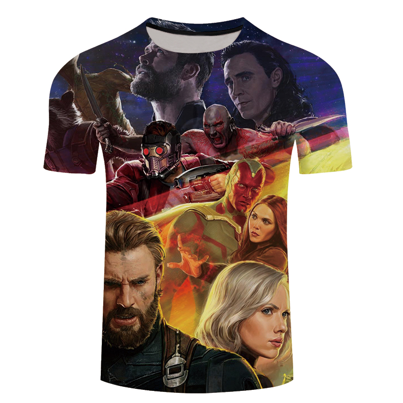 Fashion 3D T-shirt Men Avengers 3D Print Summer Hot Sale Quality Fitness Large Short Sleeve Tee Shirt Top Streetwear