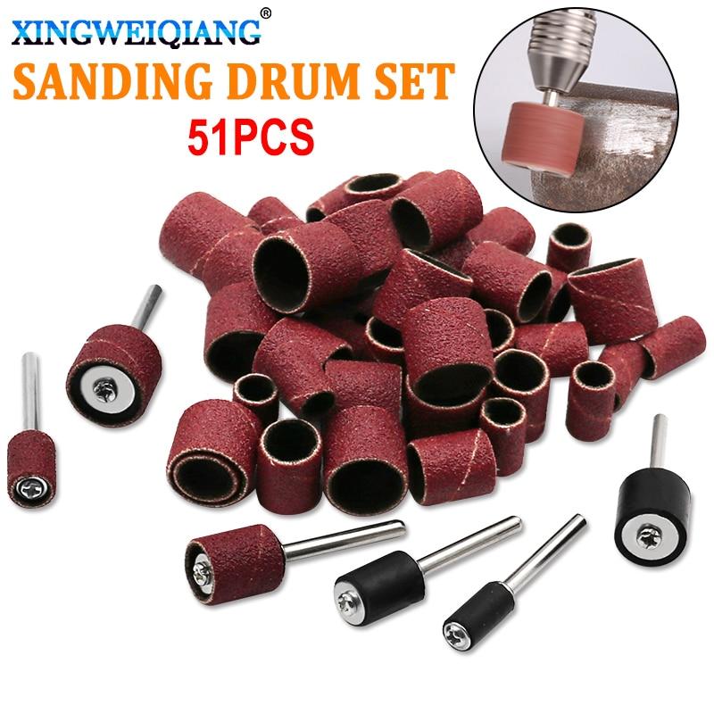 51pcs Dedicated Sanding Ring Grinding Head Polish Sandpaper Circle
