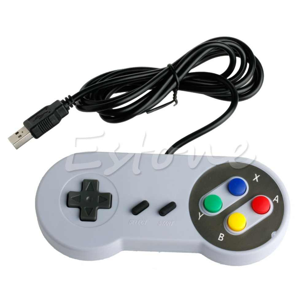 1 ADET USB Denetleyicisi Süper Nintendo SNES PC/Mac Emulator NES Windows GamePad