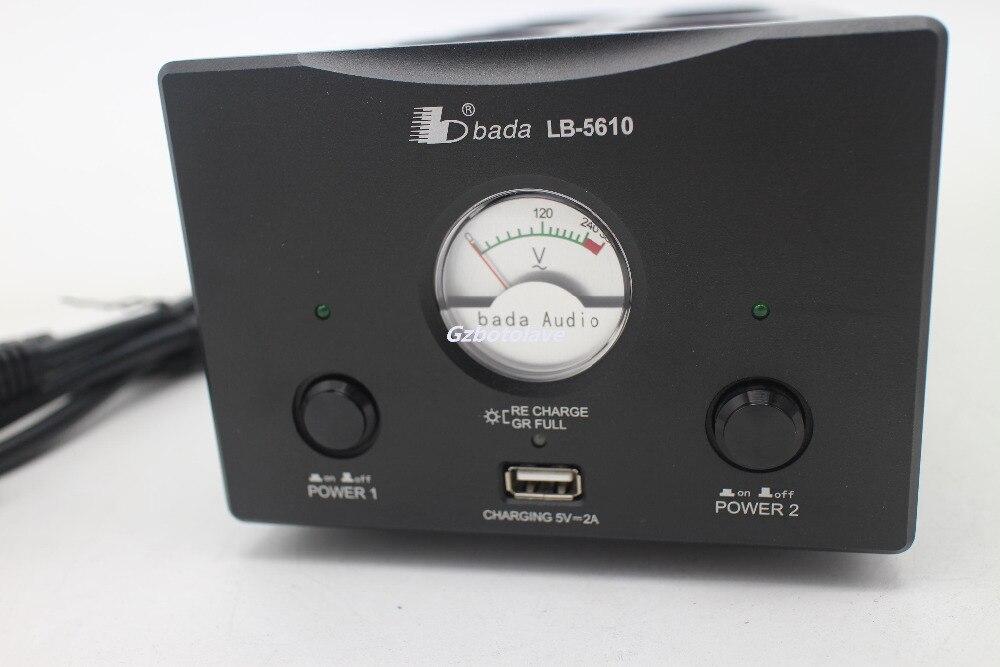 Dernière Bada LB 5610 prise EU 2 canaux Audiophile filtre de puissance prise Schuko avec USB 5V charge VU mètre montré AC110V 240 V - 4