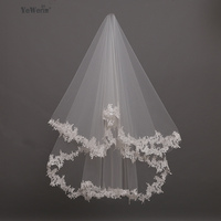 YeWen In Stock 1 5 Meters Wedding Veil Lace Appliques Tulle Bridal Veil Wedding Accessories Free
