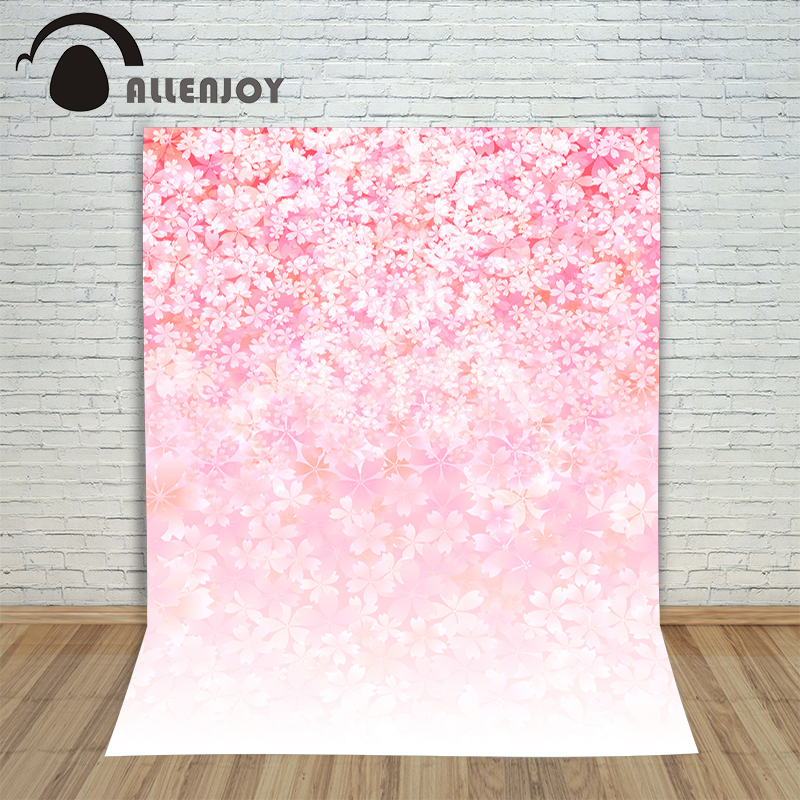 Allenjoy photo background Pink floret bright child girl baby shower baby photography backdrops backgrounds for photo studio свитшот bright girl bright girl br029ewndm69