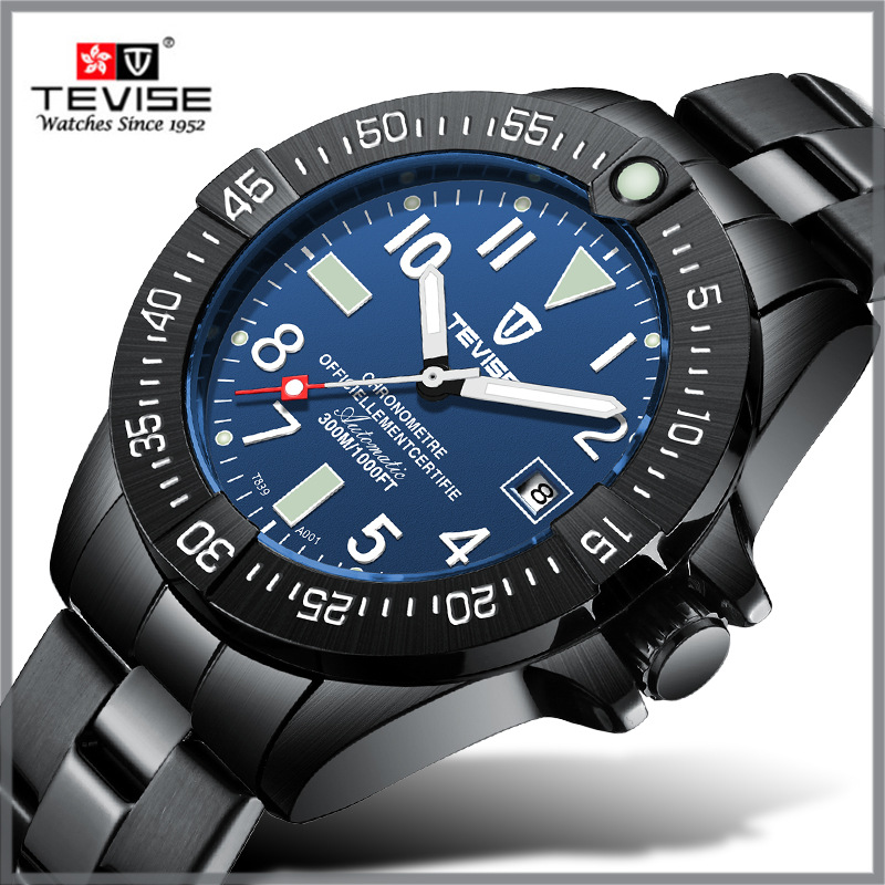 TEVISE T839A Watch Men Brand  Automatic Watch Luminous Hand Business Mechanical Watch Waterproof Stainless Steel Male WristwatchTEVISE T839A Watch Men Brand  Automatic Watch Luminous Hand Business Mechanical Watch Waterproof Stainless Steel Male Wristwatch