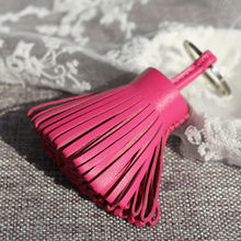 Luxury Genuine Lambskin Real Leather Tassel Keychain