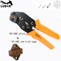 High quality SN 48B SN MINI EUROP STYLE crimping tool crimping plier with one SN28B jaw 0.5 1.5mm2 multi tool tools hands|Pliers| |  -