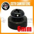 5 unids/lote 6mm lente Negro Tornillo M12 LENTE lente Del Tablero PARA CCTV Cámara de Seguridad El Envío Libre