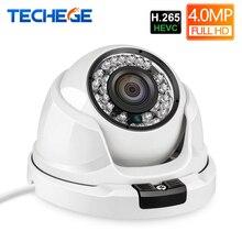 Techege H.265 4MP 2592*1520 купольные IP Камера камера видеонаблюдения ONVIF RTSP оповещение по электронной почте DC камера видеонаблюдения 12 V 48 V PoE вариант
