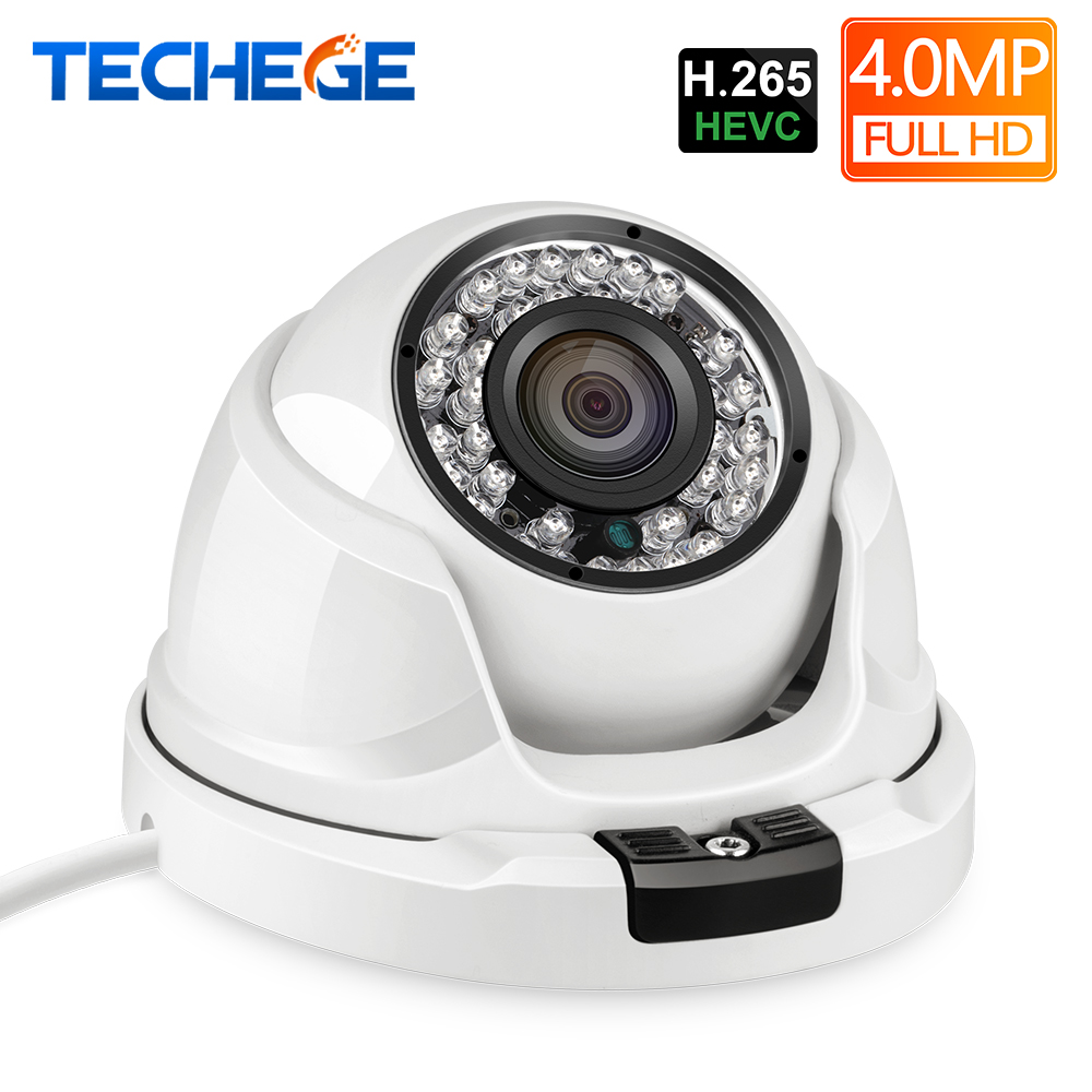 Techege H.265 4MP 2592*1520 dôme caméra IP Surveillance caméra vidéo Onvif RTSP alerte Email caméra CCTV DC 12 V 48 V Option PoE
