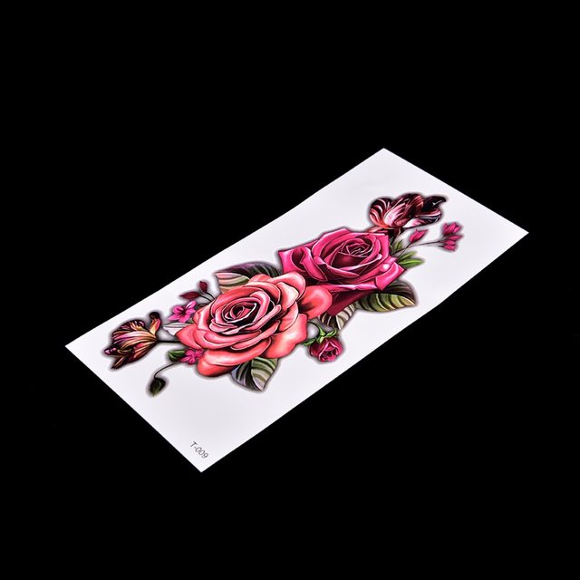 9 19 Cm Etanche 3d Rose Fleur Bras Ahoulder Cuisse Tatouage Indien