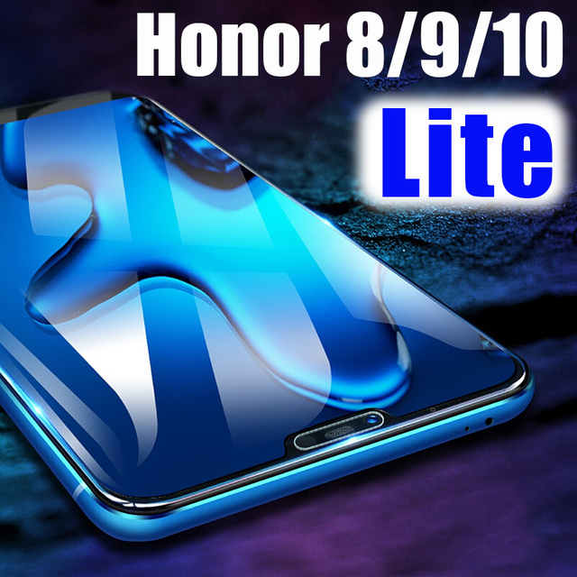 Protective Glass On the Honor 8 9 10 Light For Huawei Honor8 Honor9 Lite screen protector honer huawey honnor 8lite 9lite 10lite