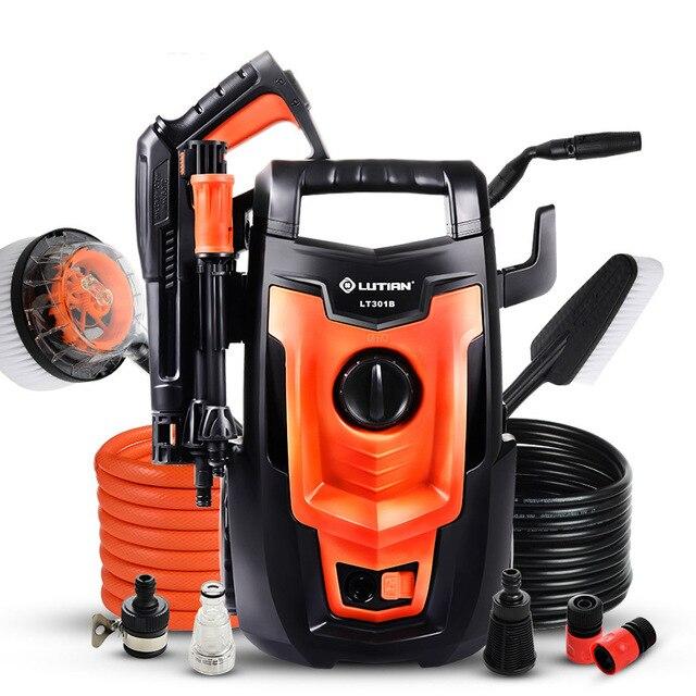 LT301B limpiador de alta presión con motor lavadora portátil para coche, bomba de limpieza de suelo para vehículo, 220V, 50HZ, 1,4 kW, 110Bar, 5,5 LPM