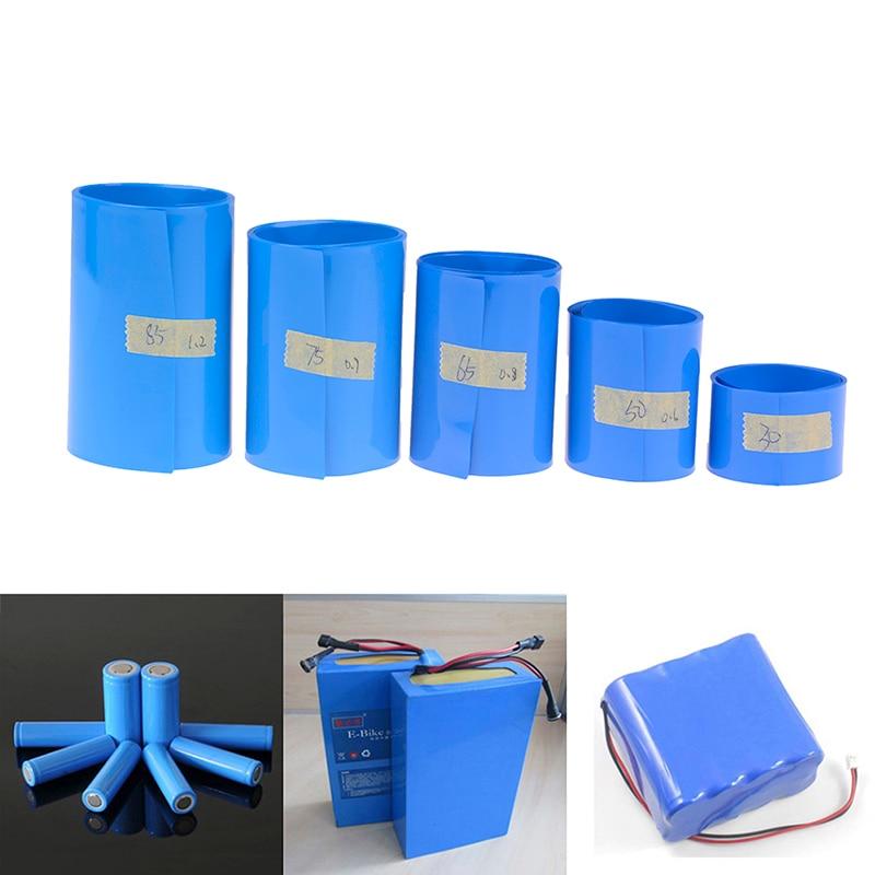 65 75 85 Mm 18650 Lithium Battery Heat Shrink Tube Li-ion Wrap PVC Shrinkable Film Tape Sleeves Battery Pack Heat Shrinking Film