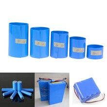 65 75 85 mm 18650 lityum pil ısı borusu Shrink Li ion Wrap PVC daralan Film bant kollu pil paketi isı shrink Film