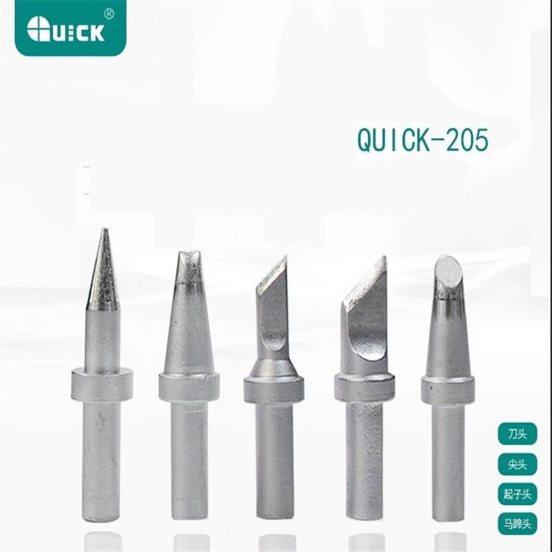 Сварочная станция QUICK 205, специальная железная головка, наконечник 500-K 500-5C 500-B, быстрая оригинальная железная головка серии 500, используется д...