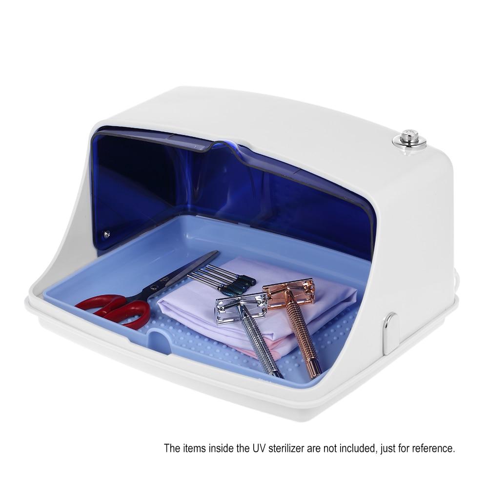 Güzellik ve Sağlık'ten Tırnak Bakım Ekipmanı'de Yüksek Sıcaklık UV sterilizatör Kutusu 5 W Tırnak Sanat sterilizatör dolabı UV Dezenfeksiyon Ekipmanları Tepsisi Düz Stil Tırnak Araçları için'da  Grup 3