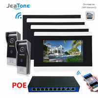 Touch Screen Wireless WIFI IP Video Door Phone Intercom Video Doorbell Villa Access Control System Motion Detection 2 to 4 POE