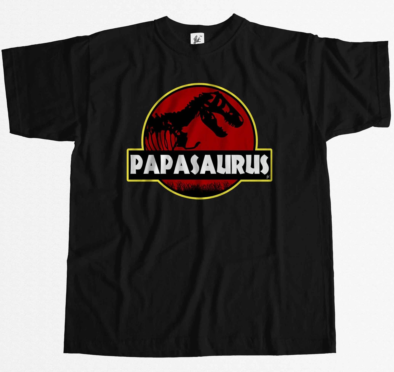 Papasauras Funny Dad Fathers Day T-Rex Old Dinosaur Mens T-Shirt Top Quality 2018 New Brand MenS