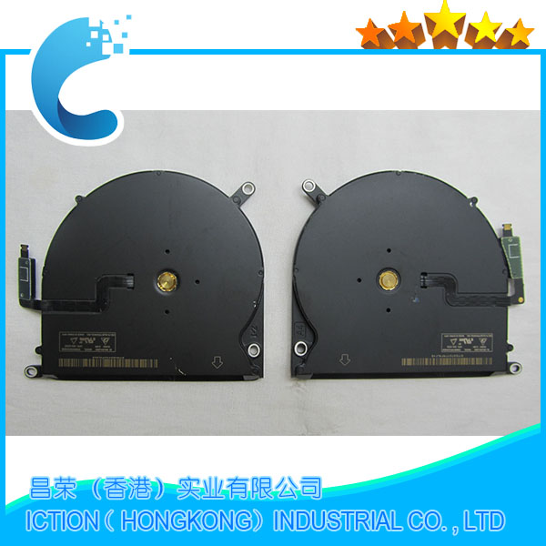 Original New CPU Cooling Fan A1398 Left + Right Set for Macbook Pro Retina 15.4 A1398 Late 2013 Mid 2014 Early 2015 nabolang a1398 cooling fan 1 pair left