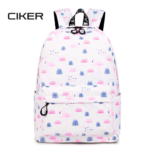 CIKER Women Backpack Animal Flamingo Printing Backpack Cute Bookpack School  Bags for Teenage Girls Trip Laptop 3758876023f26