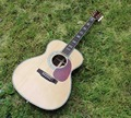 OEM custom guitar, OM Acoustic Guitar, acoustic Guitarra, solid Spruce top, real abalone binding