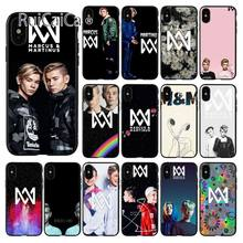 Ruicaica Marcus & Martinus M & M Black TPU Soft Silicone Phone Case Cover for iPhone X XS MAX 6 6s 7 7plus 8 8Plus 5 5S SE XR(China)