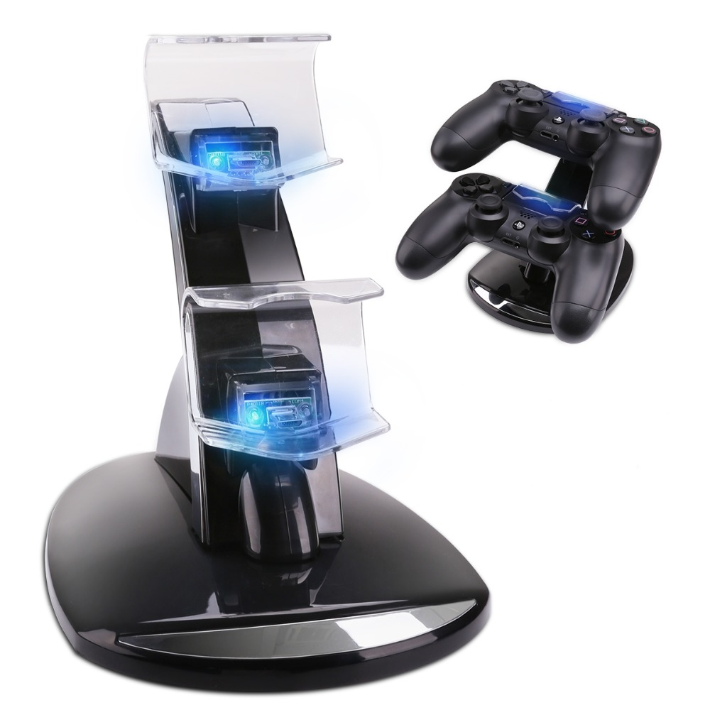 Controller Charger Dock LED Dual USB PS4 Charging Stand Station Cradle for Sony Playstation 4 PS4 / PS4 Pro /PS4 Slim ControllerController Charger Dock LED Dual USB PS4 Charging Stand Station Cradle for Sony Playstation 4 PS4 / PS4 Pro /PS4 Slim Controller
