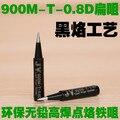 Alta qualidade 900 M De Solda Ferro 5 pçs/lote 936 900M-T-0.8D solda Pontas de Ferro Edição Preto ferradura ponta plana de ferro