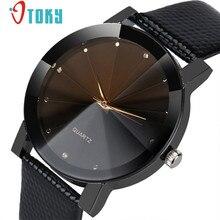 Watch Willby Drop Ship Black Luxury Quartz Stainless Steel Dial Faux Leather Band Quartz Wrist Watch Men Women Watches 161222