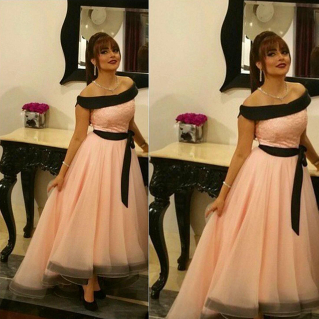 2757b9e925ae Pink Organza Evening Dress Off The Shoulder High Low Style Long Prom Gown  for Wedding Party Custom Made