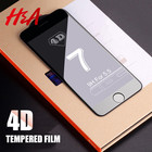 H&A 4D Full Cover Edge Tempered Glass For iPhone 7 8 6 Plus Screen Protector For iPhone 6 6s 7 Plus Film Protection Glass