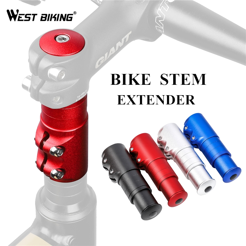 WEST BIKING Bike Fork Stem Riser Extender Extension Alloy Bicycle Stem Head Up Raiser Handlebar Mountain Cycling Part Adaptor image