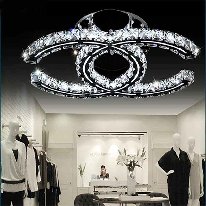 KOSTKING Flush Mount Ceiling Light Moderna New Creative LED K9 Crystal Ceiling Lights Living Room Dining Room Bedroom Lamp
