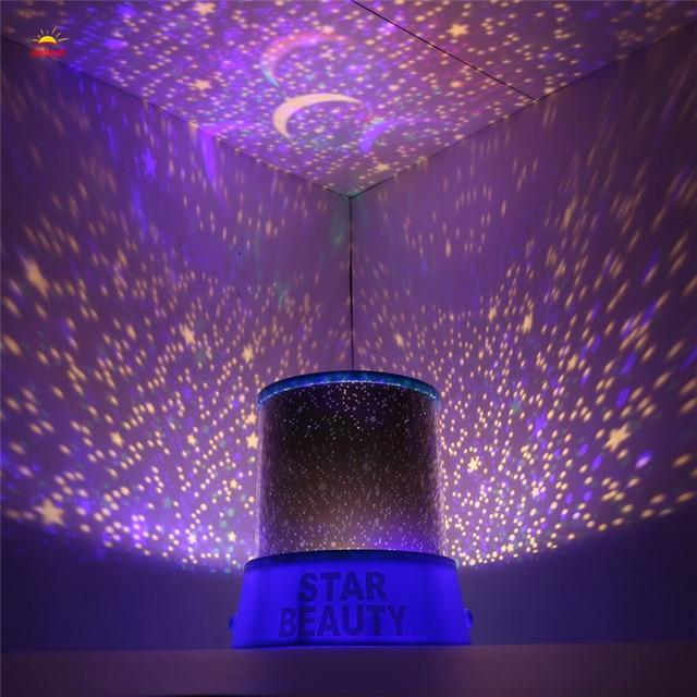 Online Shop OOBEST Romantic Rotating Spin Night Light Projector - Childrens disco lights bedroom