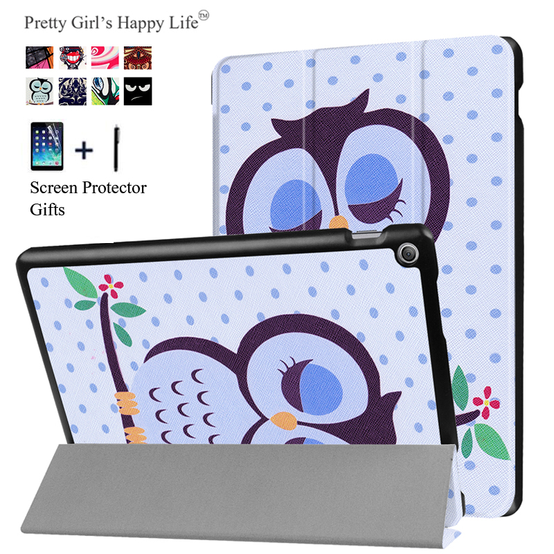 for ASUS Zenpad 10 Z301MFL Tablet Cover Case for ASUS Zenpad 10 Z300C/M/L Coque Print Flip Leather Stand Slim Capa Fundas+Stylus case for asus zenpad s 8 0 z580 z580c z580ca 8 tablet stand pu leather cover case for asus zenpad s 8 0 film stylus