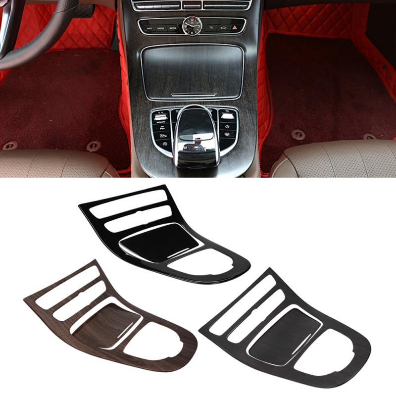 New 1Pair Console Gear Panel Frame Console Gear Shift Panel Cover Trim For Mercedes Benz E-Class W213 2016 2017 2018 New Arrive