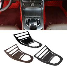 New 1Pair Console Gear Panel Frame Console Gear Shift Panel Cover Trim for Mercedes Benz E Class W213 2016 2017 2018 New Arrive