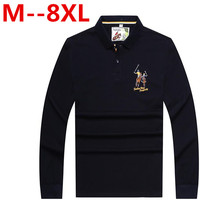 10XL 8XL 6XL Brand Clothing Mens Polo Shirt For Men Letters Embroidery Polos Cotton Long Sleeve