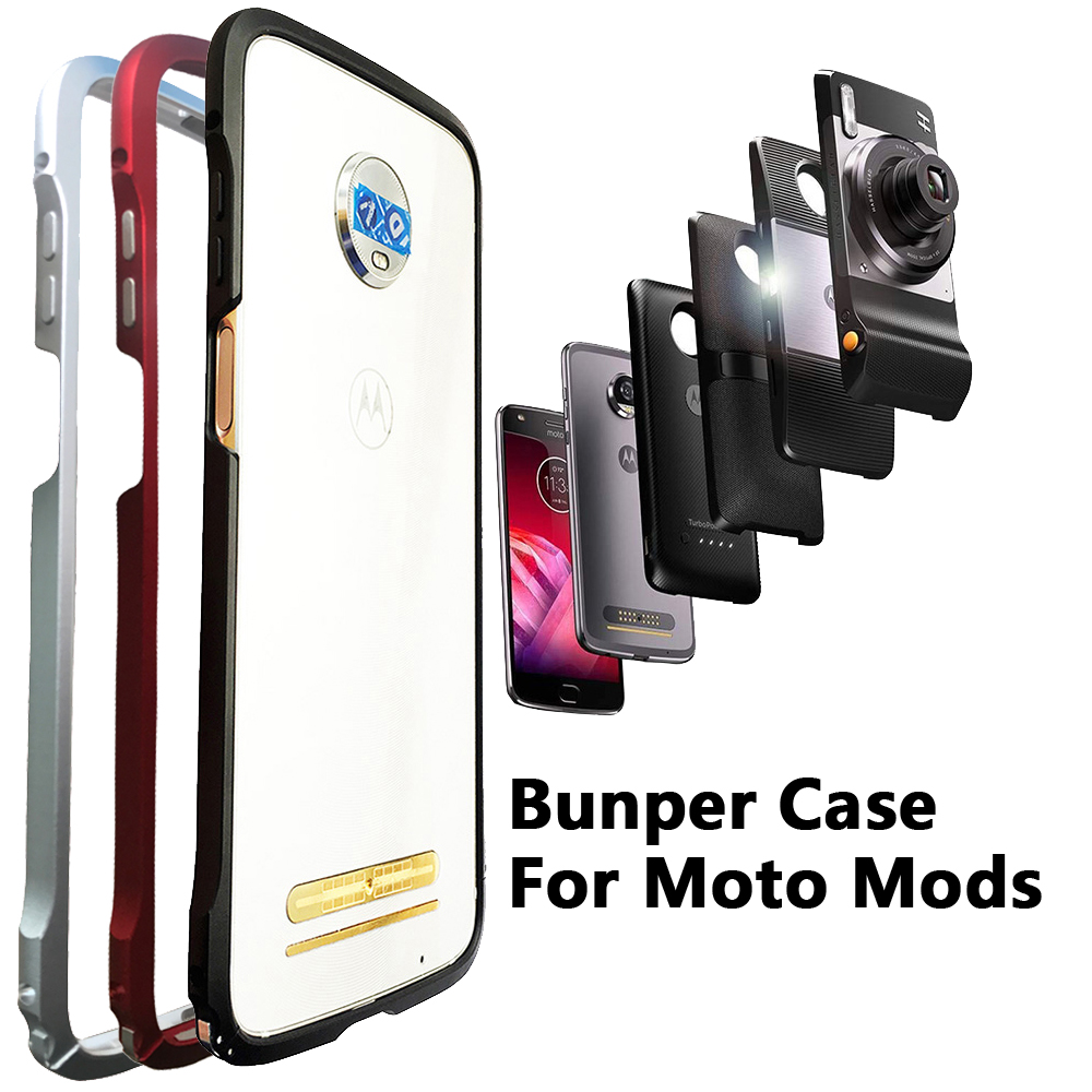 check out 2fb6a 53bff US $9.21 15% OFF|Bumper Case for Motorola moto Z3 Play Z2 Play Z2 force  Compatible Moto Mods Shockproof Aluminum Metal Frame Bumper cover-in Phone  ...