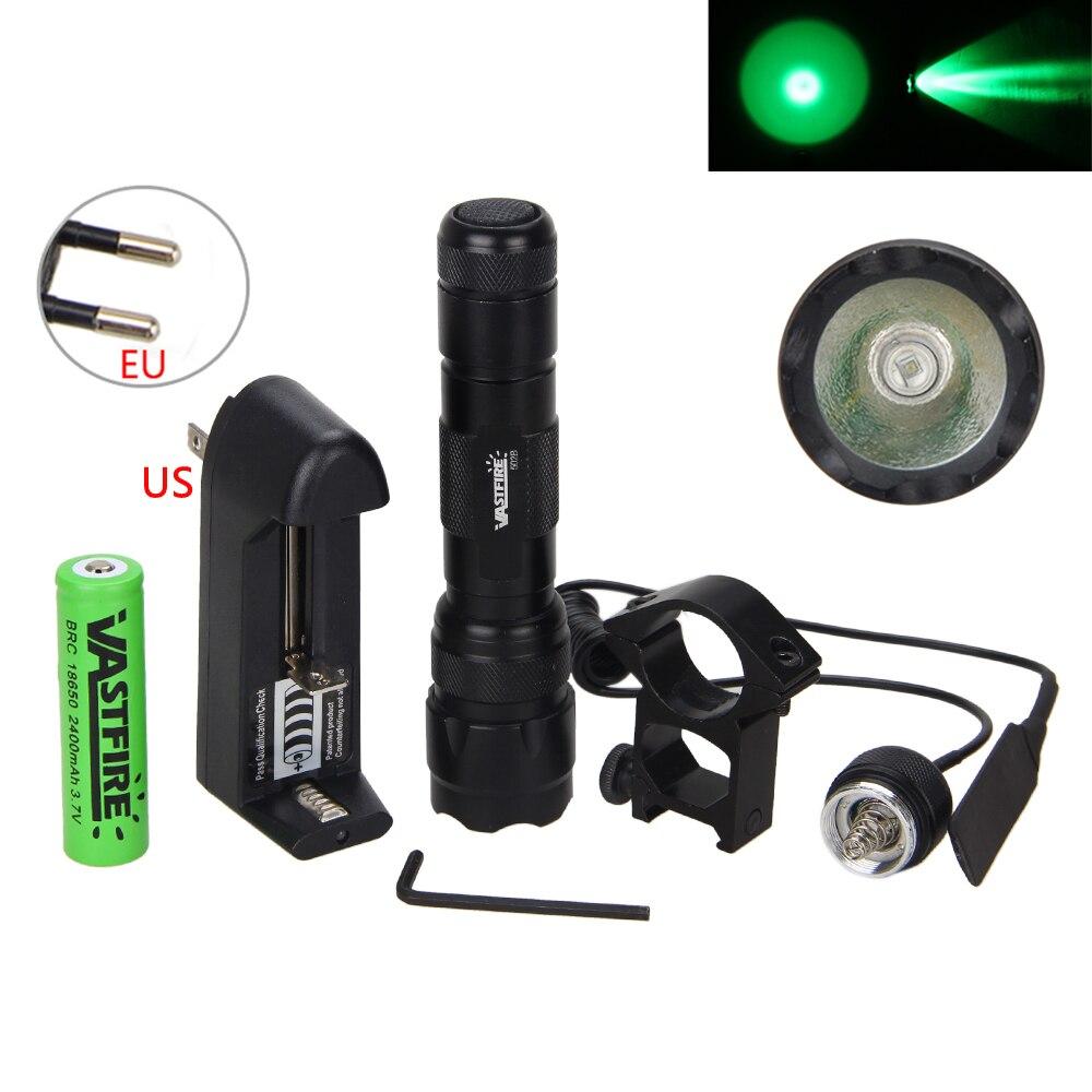 Tactical 10000lm XM-L T6 LED Flashlight Hunting Torch 18650 Mount Rifle Gun Rail