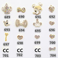 5 Pcs Fashion 3d DIY Laser Crystal Diamond Nail Art Stickers Nail Art Decals Decoration Tools