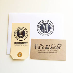 Image 2 - CUSTOM LOGO or TEXT Wood Stamp, wood rubber stamp, personalized Wood Stamp for business, wedding, branding, event
