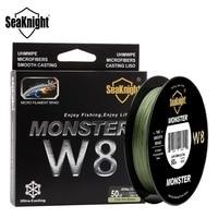 Nieuwe SeaKnight Monster W8 500 M Gevlochten Vislijn 8 Strengen Groothoek Technologie Multifilament PE Lijn 20-100LB Zoutwater