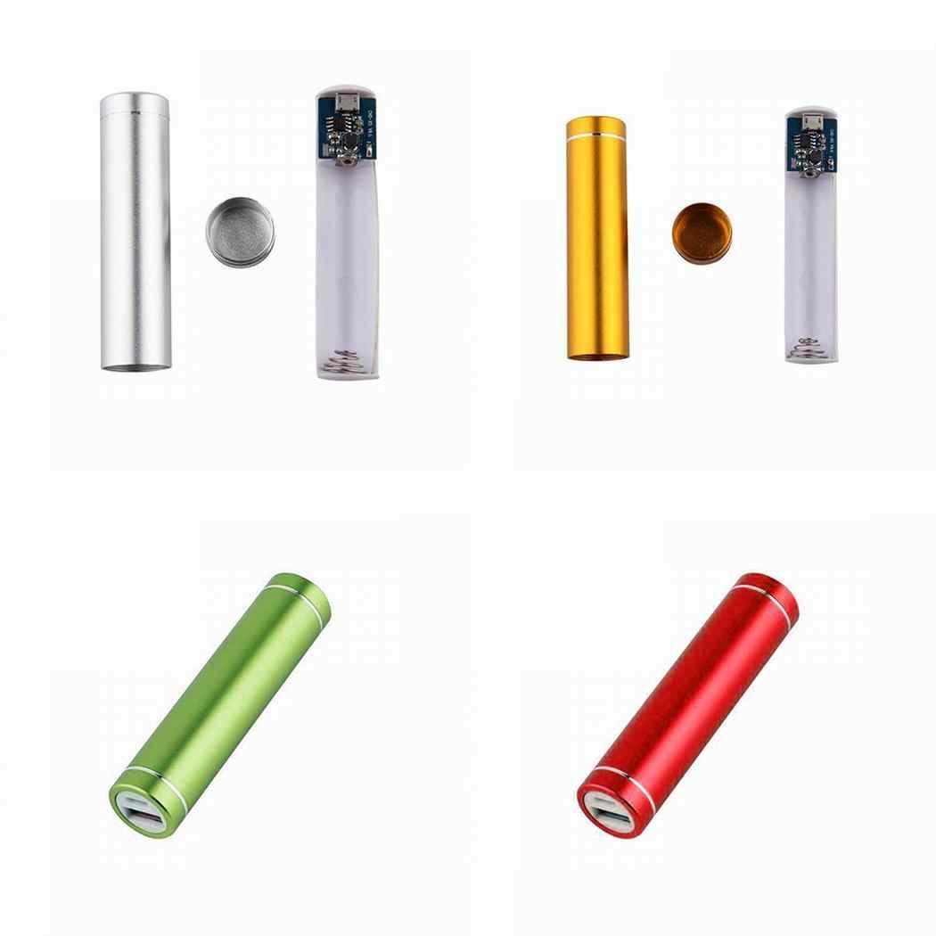 Mi ni لا بطارية علبة صندوق شحن خارجي 18650 بطارية قلم USB عمودي الهاتف شاحن باوربانك ل Xiao mi mi آيفون X نوت 8