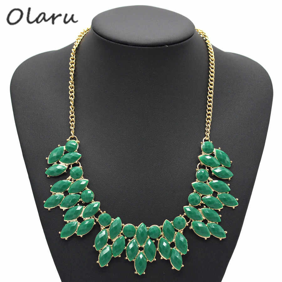 Olaru Necklaces Colar Big Necklace Pendants Hot Sell 4 Colors Jewelry Long Jewelry Woman Maxi Necklace HT-85